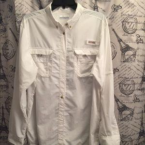 Columbia white XL women's PFG shirt